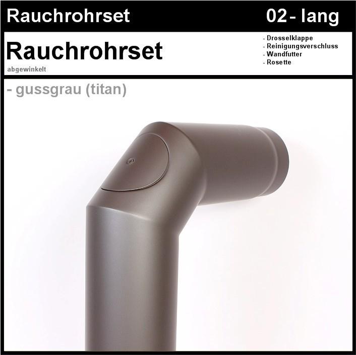02 rauchrohrset 02 45 cm oder 30 cm tief mit geschliffenen n hten kaminstudio rosenbusch. Black Bedroom Furniture Sets. Home Design Ideas